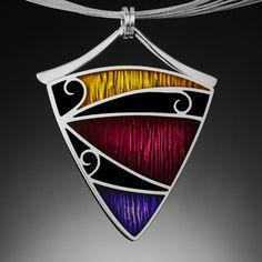 Silver, Resin, and Precious Metal Clay  Pendant.