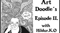 Watch me draw doodles for my coloring book with Hildur.K.O - Episode 11  #illustration  #youtube  #doodles  #abstract #timelapse  #artwork #meditation #coloringforadults #coloringpage #stepbystep