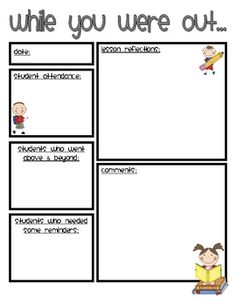 Substitute Teacher Binder - Persnickety Pickles - TeachersPayTeachers.com