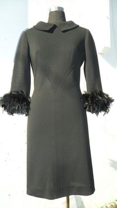 60s vintage A Murder of Crows black knit dress by ModFashRedux, $150.00
