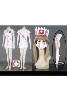 血护士僵尸角色扮演服装