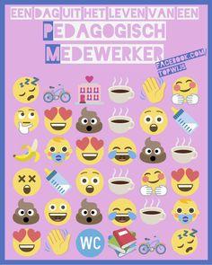 Poster kinderopvang: Een dag uit het leven van een pedagogisch medewerker