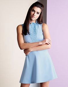 4a97ecee4 Womens pastel blue fashion union high neck dress from Lipsy - £32 at  ClothingByColour.