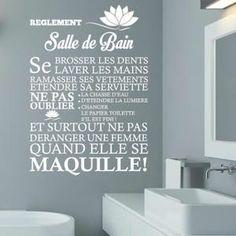 Stickers Blanc Créative Sticker mural pour salle de bain Dé                                                                                                                                                                                 Plus