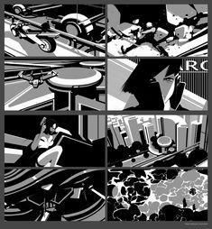 ArtStation - Thumbnails I 3 tone Composition Sketches, Vyacheslav Gluhov