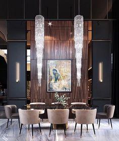 Luxury Dining Room, Beautiful Dining Rooms, Dining Room Design, Luxury Home Decor, Luxury Interior Design, Contemporary Interior, Contemporary Kitchens, Dining Room Inspiration, Elegant Dining