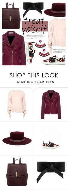 """""""It's Time to Treat Yo'Self!"""" by ifchic ❤ liked on Polyvore featuring TIBI, IRO, Janessa Leone, Mother of Pearl, Karen Walker, Joomi Lim, contestentry, treatyoself and ifchic"""