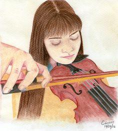 Autorretrato por @EvangeCaceres Acuarelas Watercolors Selfportrait