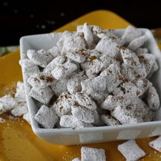 Pumpkin Spice Puppy Chow!  Treat your dog too!  #thanksgiving #fall #foodiefiles   Pin it to Save it!
