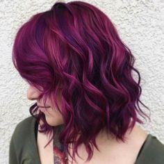 45 ideas for hair color burgundy magenta Short Purple Hair, Hair Color Purple, Cool Hair Color, Hair Colors, Purple Makeup, Burgundy Color, Violet Hair, Pink Hair, Neon Hair