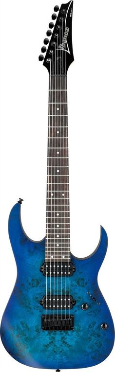 The RG 7 String Available With A Poplar Burl Top The RG is the most recognizable and distinctive guitar in the Ibanez line. Three decades of metal have forged this high-performance machine, honing it