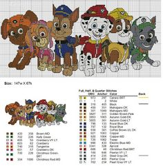 Brilliant Cross Stitch Embroidery Tips Ideas. Mesmerizing Cross Stitch Embroidery Tips Ideas. Cross Stitching, Cross Stitch Embroidery, Embroidery Patterns, Disney Cross Stitch Patterns, Cross Stitch Designs, Paw Patrol, Cross Stitch Heart, Le Point, Canvas Patterns