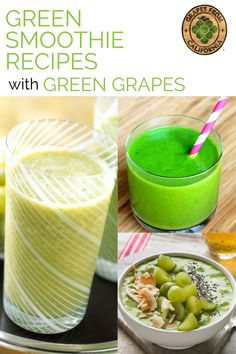 These wholesome green smoothie recipes taste good with delicious and simple ingredients like spinach, avocado, almond milk, pineapple, green California grapes, and more.  Try these yummy smoothies for adults and for kids, for energy, and for mornings!  #forkids #breakfast #forenergy #thattastegood #easy #protein #spinach #morning #delicious #avocado #best #pineapple #simple #sweet #almondmilk #greensmoothierecipes #greengrapes #greengrapesmoothie Smart Snacks, Easy Snacks, Yummy Snacks, Healthy Snacks, Healthy Eating, Smoothie Recipes For Kids, Green Smoothie Recipes, Yummy Smoothies, Drink Recipes