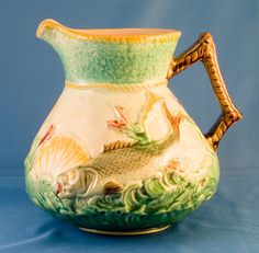 Fish on water pitcher