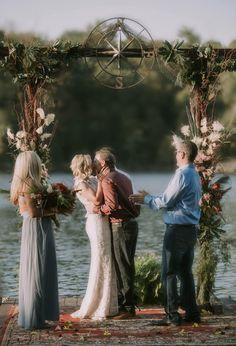 Nautical Compass Wedding Arch