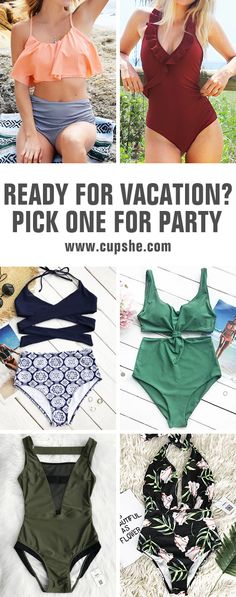 This summer is so lit! Are you ready for vacation? Here are hot swimsuits with low price & soft fabric. Let's get some packing! You will want to pull them out of your closet to next beach trip. Check them out!