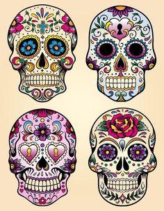 This is Calavera Skull Dia De Los Muertos Tattoo Design photo 1 Caveira Mexicana Tattoo, Tattoo Caveira, Sugar Skull Tattoos, Sugar Skull Art, Sugar Skulls, Skull Candy Tattoo, Sugar Skull Painting, Sugar Skull Design, Mexican Skull Tattoos