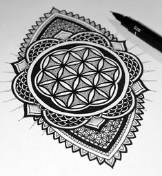 Flower of Life Henna Tattoo