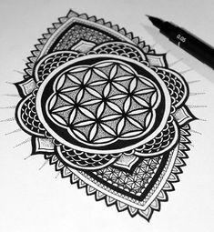 Flower of Life Henna Tattoo
