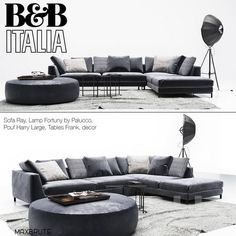models: Sofa - B & B Italia Diwan Ray with pillows 3d Models, Corner Sofa, Sofa Furniture, B & B, Leather Material, Upholstery, Sweet Home, Couch, Pillows
