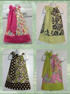 Pillowcase Dress and Bow Of The Month Club by KadeesKidsKlothes,