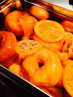Beignets miel/orange Beignets, Peach, Orange, Food, Homemade, Peaches, Meals, Yemek, Fishing