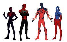 New Generation by shorterazer on DeviantArt Marvel Heroes, Marvel Characters, Marvel Dc, Marvel Comics, Spiderman Black Cat, Amazing Spiderman, Spider Art, Spider Verse, Scarlet Spider