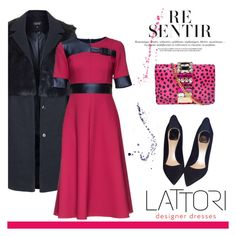 """""""LATTORI designer dresses"""" by helenevlacho ❤ liked on Polyvore featuring Topshop, Lattori, Christian Dior, GEDEBE and lattori"""