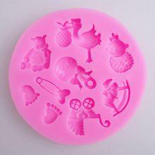 Trojan Baby Cradle Shape Chocolate Fondant Cake Mold DIY Silicone Cake Decoration Creative Baking Tools Safe Non-toxic     JJ185(China (Mainland))