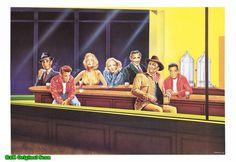 (click to enlarge) John Wayne, Elvis Presley, James Dean, Humphrey Bogart, Marlene Dietrich, Marilyn Monroe, Clark Gable