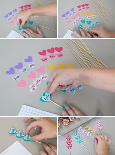 Make your own donut skewer wedding favors! Diy Crafts For Gifts, Paper Crafts, Handmade Birthday Cards, Birthday Gifts, Diy For Kids, Gifts For Kids, Deco Ballon, Diy Cake Topper, Diy Birthday Decorations