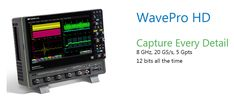 HD4096 technology enables 12 bits of vertical resolution with 8 GHz bandwidth Powerful Oscilloscope