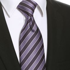 This purple violet striped extra long tie would be perfect for any formal or casual occasion. Extra Long Ties, Tall Guys, Purple, Purple Stuff