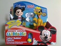($37.77) Mickey Mouse Clubhouse Talkin' Bobbin' Mickey & Plato Characters Figures  From Disney