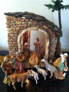 "Fontanini 5"" Heirloom Nativity 10-pc Figure Set and Lighted Building 54622"