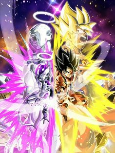 LR Goku and Frieza Super Saiyan Dragon Ball Z Dokkan Battle Wallpaper Dragon Ball Z, Dragon Ball Image, Goku Y Freezer, Foto Do Goku, Goku Vs Jiren, Dbz Vegeta, Super Anime, Animes Wallpapers, Anime Comics