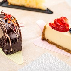 Life's too short to skip dessert! Serve individual slices on colorful cake servers to up your dessert game in a major way 🍰 Dessert Games, Dessert Presentation, Colorful Cakes, Panna Cotta, Cheesecake, Baking, Ethnic Recipes, Desserts, Life
