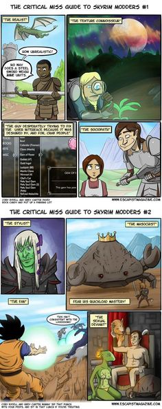 The different types of Skyrim modders