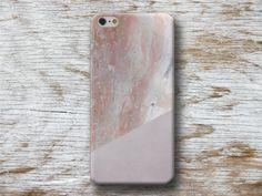 Telefoonhouders - Marmer Roze Grijs Meetkundig Cover Galaxy Huawei - Een uniek product van michaelcase op DaWanda