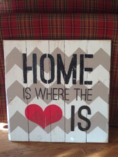 Pallet board sign... Home is where the heart is