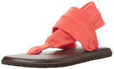 Amazon.com: Sanuk Women's Yoga Sling -these are the most comfortable sandals I have ever worn. Walked 7 miles( much in 110') in Las Vegas 1day & almost as much the next and my feet never hurt! I was scared to wear different shoes :)
