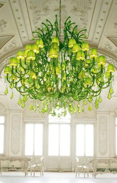 Spectacular Lime Green Chandeliers by Masiero: Ottocento Collection - http://www.pinkandmilk.com/decor-ideas/spectacular-lime-green-chandeliers-by-masiero-ottocento-collection.html Chandeliers, Collection, Green, Lime, Masiero, Ottocento, Spectacular
