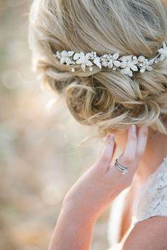 Delicate Crystal Bridal Headpiece