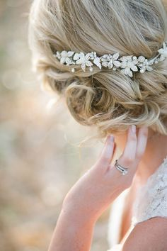 Delicate Crystal Bridal Headpiece