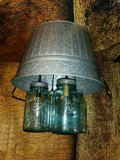 Rustic/country Round Wash Tub Mason Jar Light Fixture   #HomemadeQuality #PrimitiveRusticCountryShabbyCottageFarm