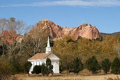 American Mother's Chapel at Rock Ledge Ranch Colorado Springs CO (this is where we got married!)
