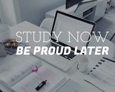 Study now, be proud later // follow us @motivation2study for daily inspiration