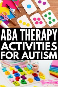 ABA Therapy Activities for Kids with Autism You Can Do at Home From teaching emotional regulation anger management and social thinking concepts to demonstrating life skil. Autism Learning, Autism Education, Autism Parenting, Autism Resources, Autism Classroom, Aba Therapy For Autism, Kids Therapy, Early Education, Early Learning
