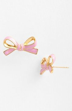 So cute! I have the aqua ones already, but I may need these too!    kate spade new york 'skinny mini' bow stud earrings | Nordstrom
