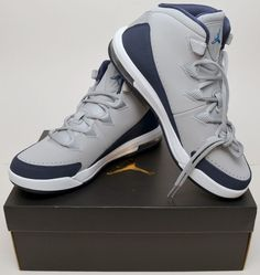 01d23c0f4d67 Details about NEW GENUINE Nike Mens Size 8.5 Grey Jordan Air Deluxe  Basketball Shoe 807717-006